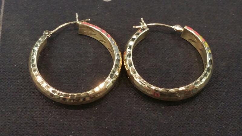 Gold Earrings 14K Yellow Gold 1.3dwt
