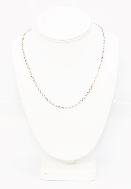 """18"""" Sterling Silver Rolo Link Chain Necklace"""