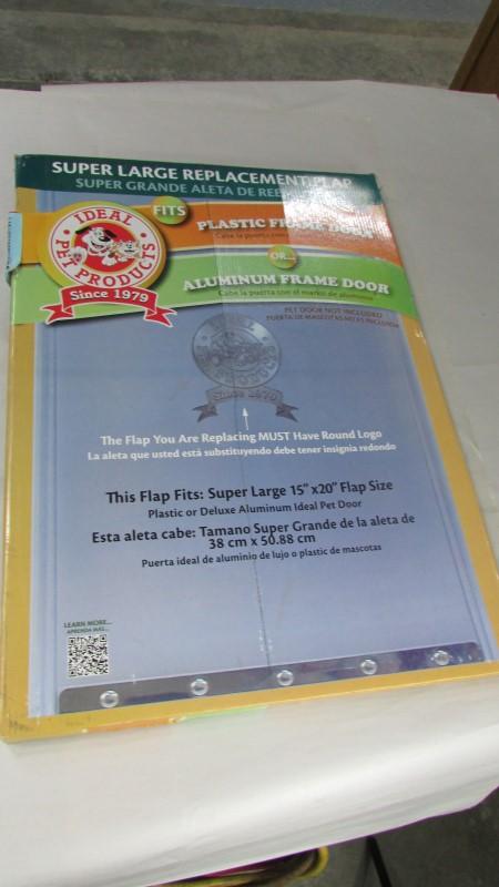 Ideal Pet Products Replacement Flap Plastic-Alum Xl Ns