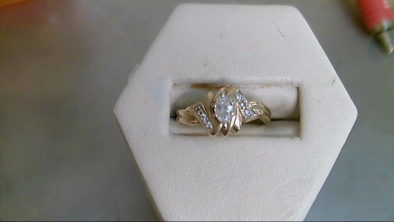 Lady's Diamond Engagement Ring 7 Diamonds .28 Carat T.W. 10K Yellow Gold 4g