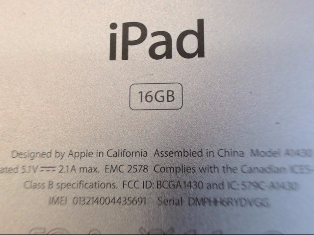 APPLE Tablet IPAD 3 MD366LL/A 3RD GEN WITH WI-FI + 4G (AT&T)