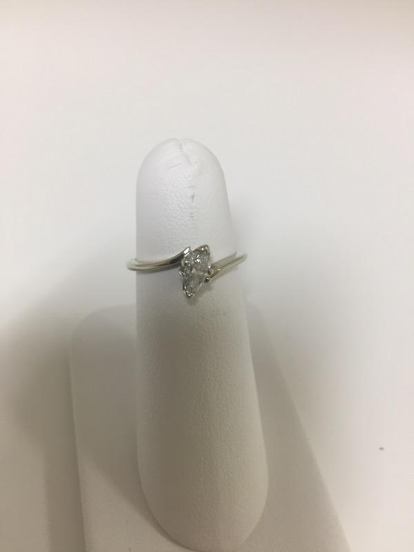 DIAMOND  SOLITAIRE RING L'S 14KT DIAMOND  1.6/WG