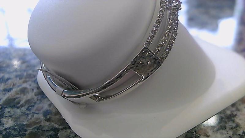 Gold-Diamond Bracelet 149 Diamonds 3.78 Carat T.W. 14K White Gold 22.8g