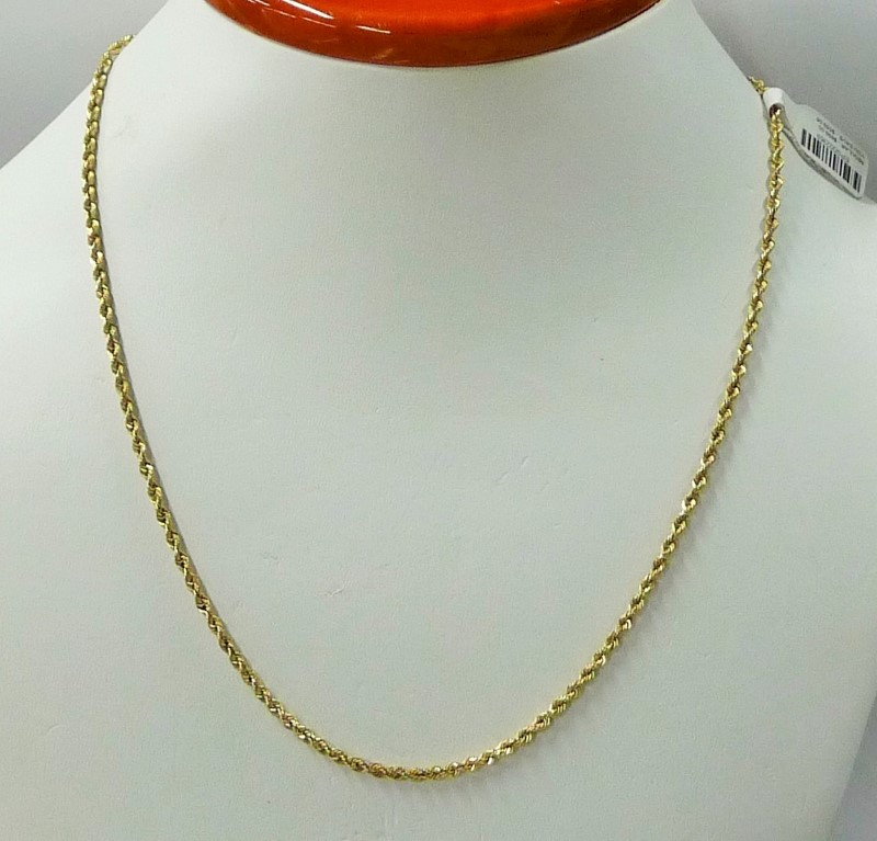 "18"" Gold Rope Chain 10K Yellow Gold 3.82dwt"