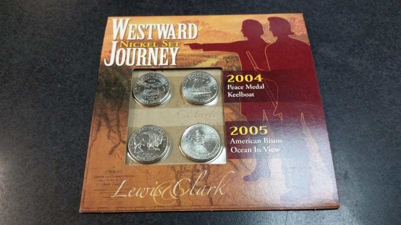Westward Journey Nickel Set - 2004 Peace Medal Keelboat / 2005 American Bison
