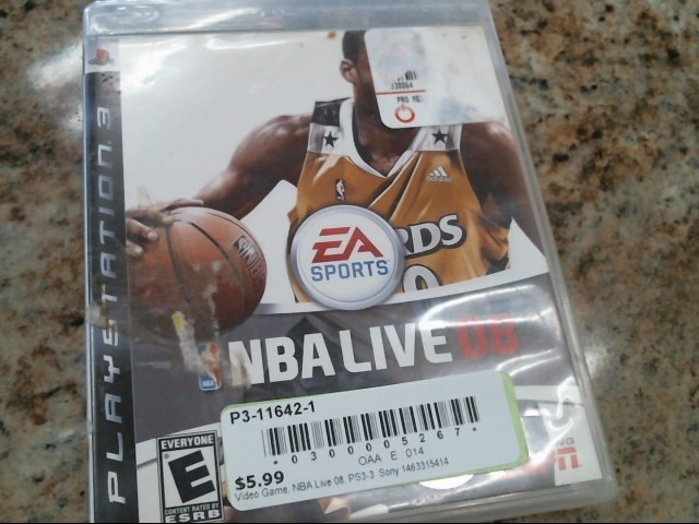 SONY Sony PlayStation 3 Game NBA LIVE 08