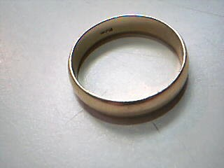 Gent's Gold Wedding Band 14K Yellow Gold 3.4g Size:8.5