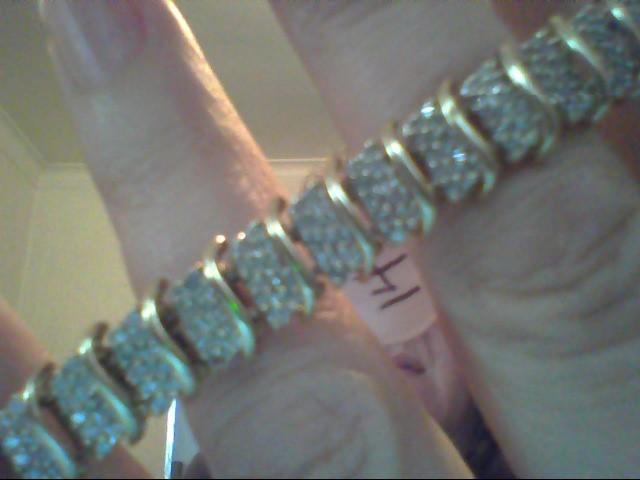 Gold-Diamond Bracelet 380 Diamonds 3.80 Carat T.W. 10K Yellow Gold 14.1g