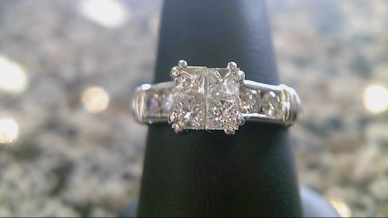 Lady's Platinum-Diamond Ring Guard 8 Diamonds 1.12 Carat T.W. 950 Platinum 7.7g