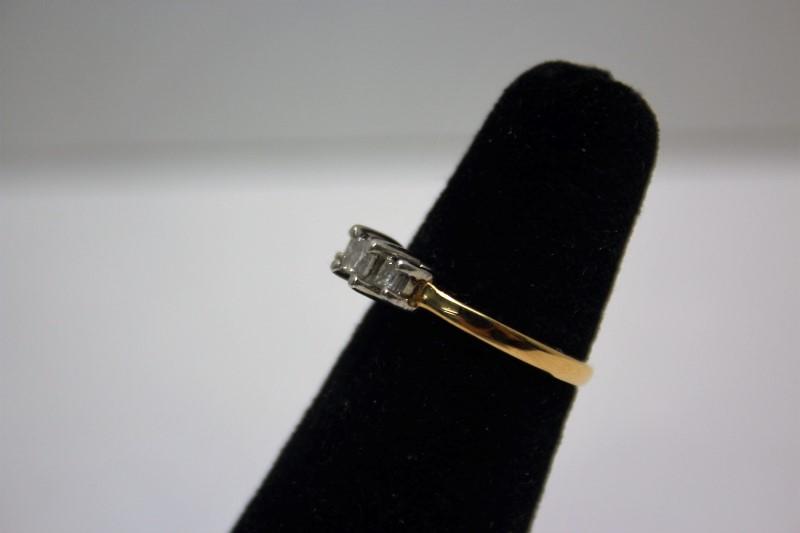 Lady's Diamond Engagement Ring 3 Diamonds .33 Carat T.W. 14K Yellow Gold 3.8g