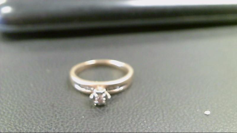 Lady's Diamond Engagement Ring 7 Diamonds .09 Carat T.W. 10K Yellow Gold 2.6g