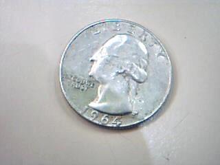 UNITED STATES Silver Coin 1964 WASHINGTON QUARTER