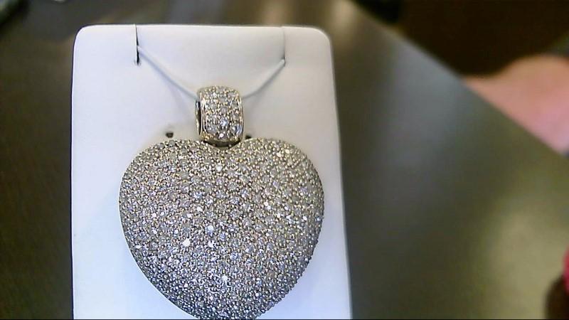 Gold-Multi-Diamond Pendant 400 Diamonds 2.000 Carat T.W. 18K White Gold 20.6g