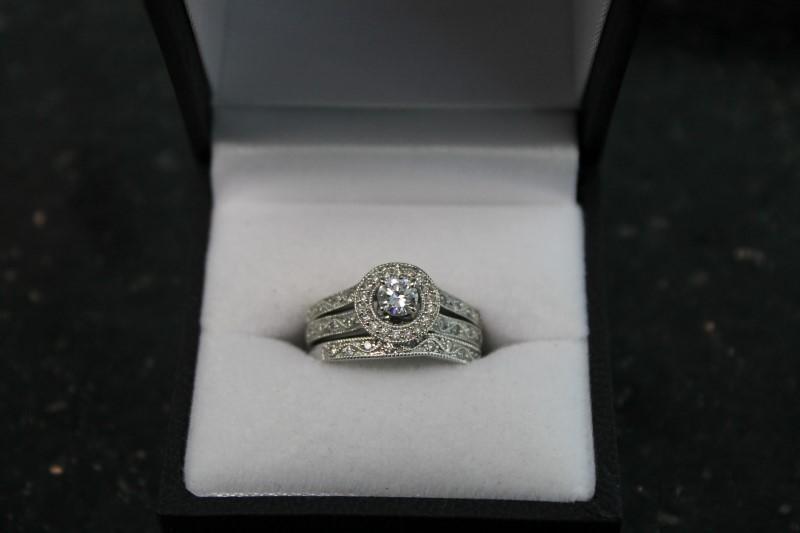 Lady's Diamond Wedding Set REF DIA B1-111108-1 61 Diamonds .76 Carat T.W.