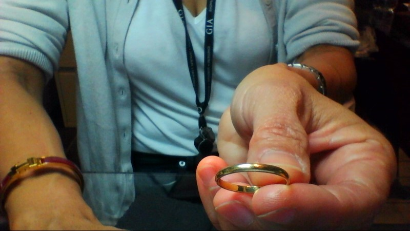 Lady's Gold Ring 14K Yellow Gold 1.28g Size:6.5