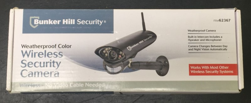 Bunker Hill Security Weatherproof Color Wireless Security Camera Night Vision