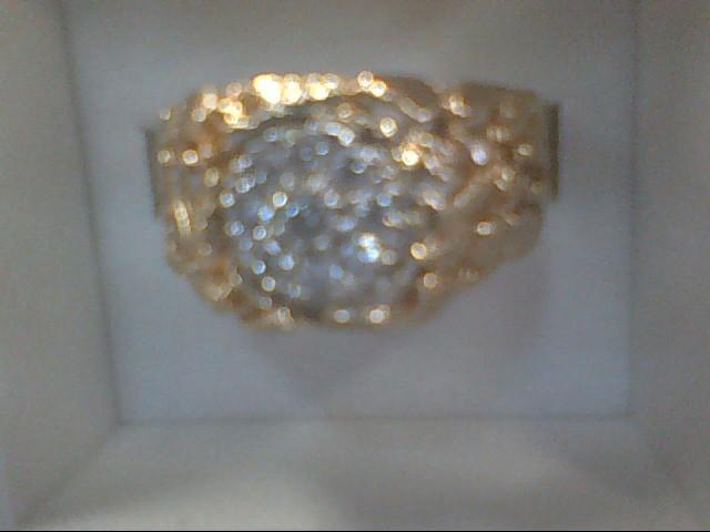 Gent's Diamond Cluster Ring 9 Diamonds .45 Carat T.W. 14K Yellow Gold 5.8g