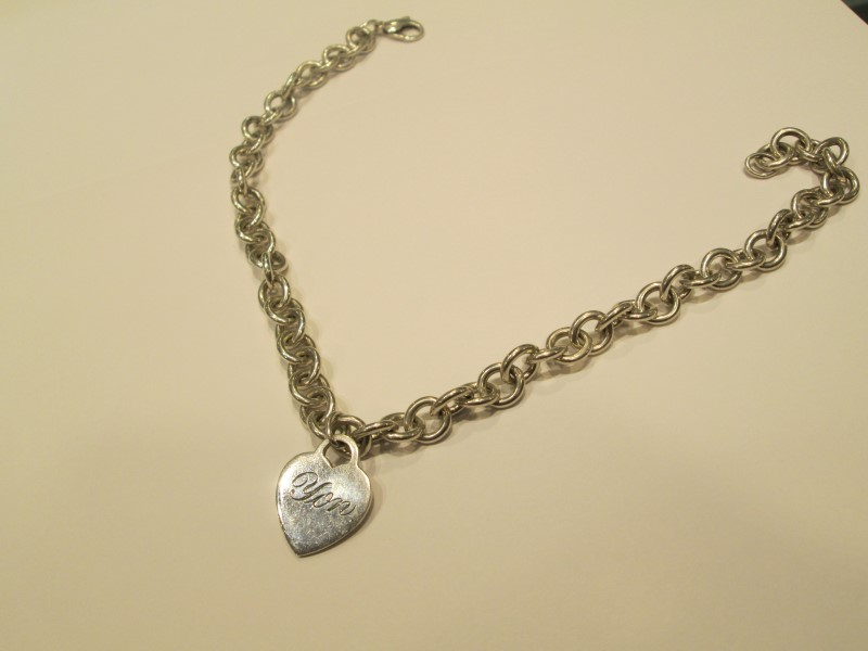 Engraved Tiffany & Co. Heart Pendant Necklace