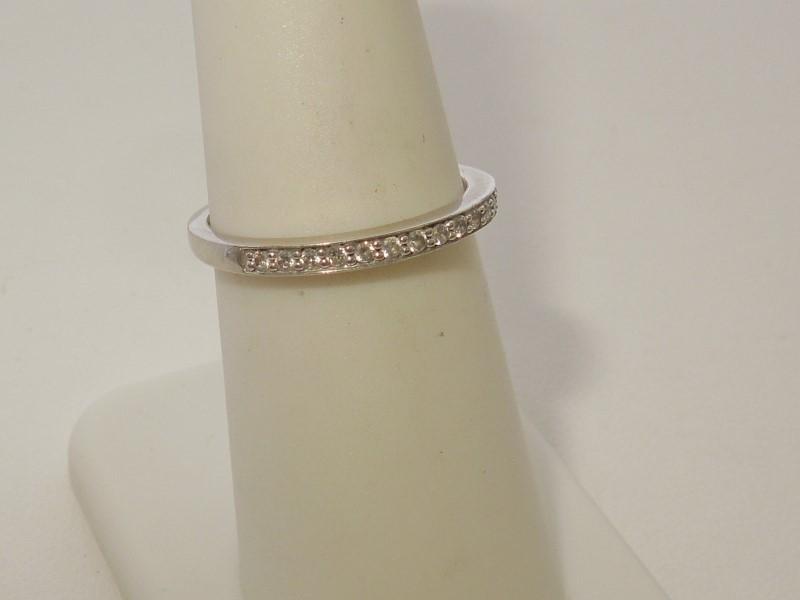 Lady's Gold-Diamond Anniversary Ring 13 Diamonds .13 Carat T.W. 10K White Gold