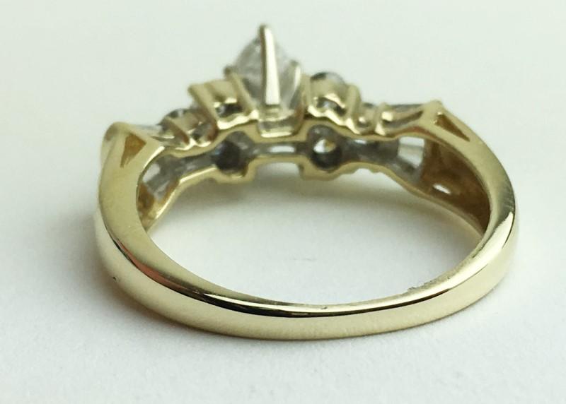 Lady's Diamond Engagement Ring 13 Diamonds 1.21 Carat T.W. 14K Yellow Gold