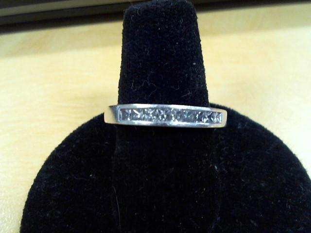 Lady's Diamond Fashion Ring 9 Diamonds .54 Carat T.W. 14K White Gold 3.3g