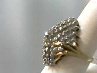 Lady's Diamond Cluster Ring 50 Diamonds 2.00 Carat T.W. 14K Yellow Gold 5.6dwt
