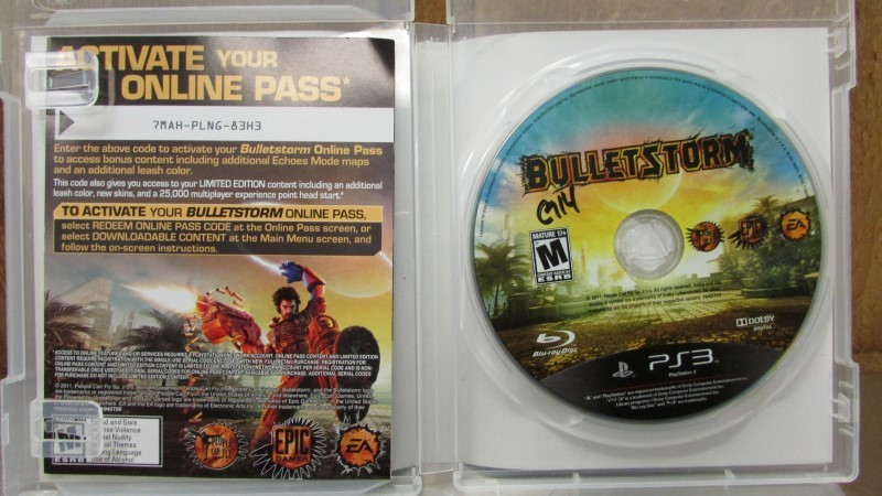 SONY Sony PlayStation 3 Game BULLET STORM LIMITED EDITION