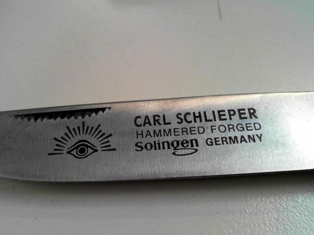 CARL SCHLIEPER SOLINGEN GERMANY EYE BRAND KNIFE