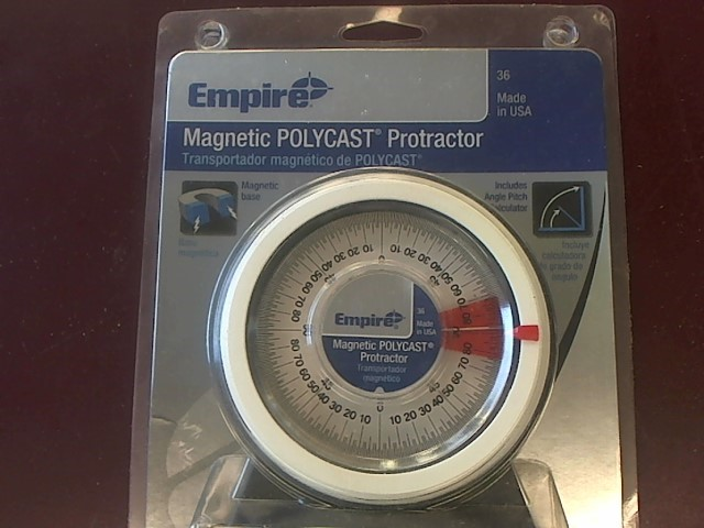 EMPIRE 36 ANGLE PROTRACTOR