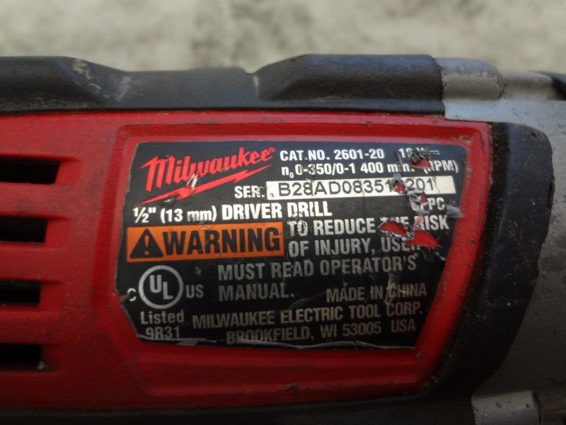 """MILWAUKEE 2601-20 18V CORDLESS LITHIUM-ION 1/2"""" COMPACT DRILL/DRIVER*NO CHARGER*"""
