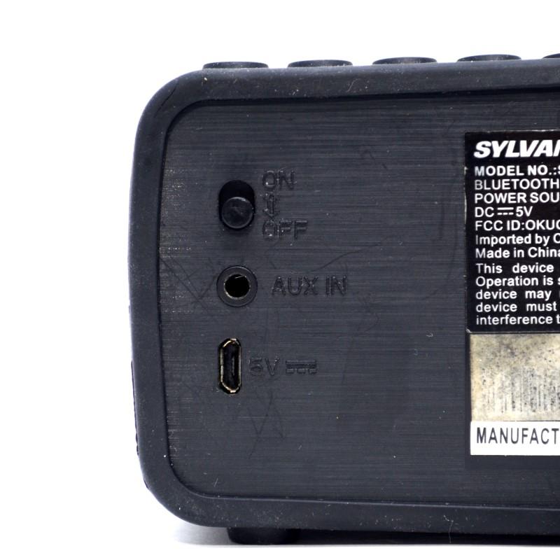 SYLVANIA SP258-BLACK WIRELESS BLUETOOTH SPEAKER NO CHARGER >