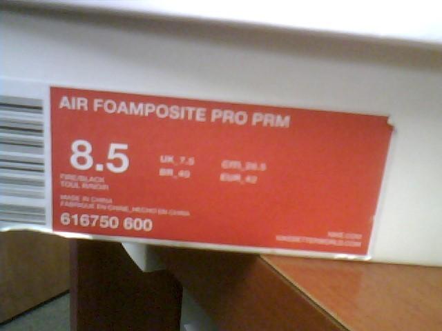 Nike Air Foamposite Pro Area 72 Asteroid 616750-600  mens size 8.5