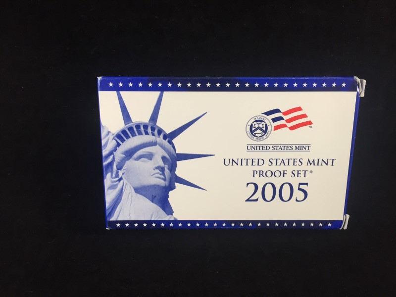 2005 United States Mint Proof Set 50 State Quarter w Certificate of Authenticity