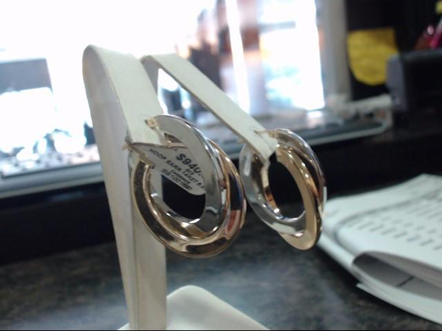 Gold Earrings 14K 2 Tone Gold 5.2g