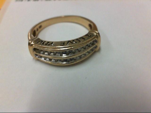 Lady's Diamond Cluster Ring 22 Diamonds .22 Carat T.W. 10K Yellow Gold 2.9g
