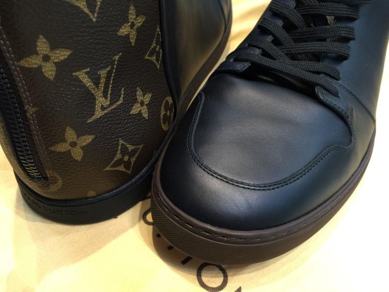 AUTHENTIC LOUIS VUITTON LINE-UP SNEAKER BOOTS MEN'S 12 SIZE  BLACK