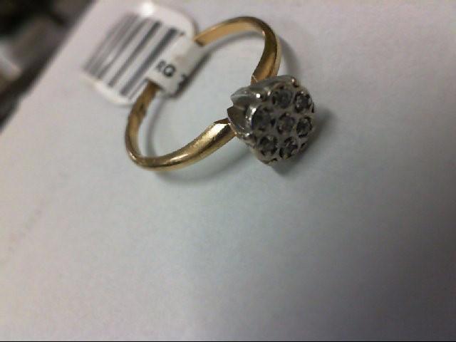 Lady's Diamond Cluster Ring 7 Diamonds .07 Carat T.W. 10K Yellow Gold 2.3g