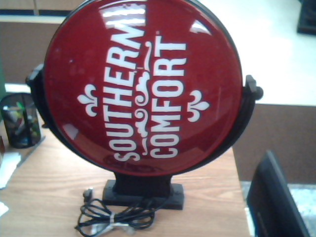 SOUTHERN COMFORT ROTATING LIGHTED SIGN