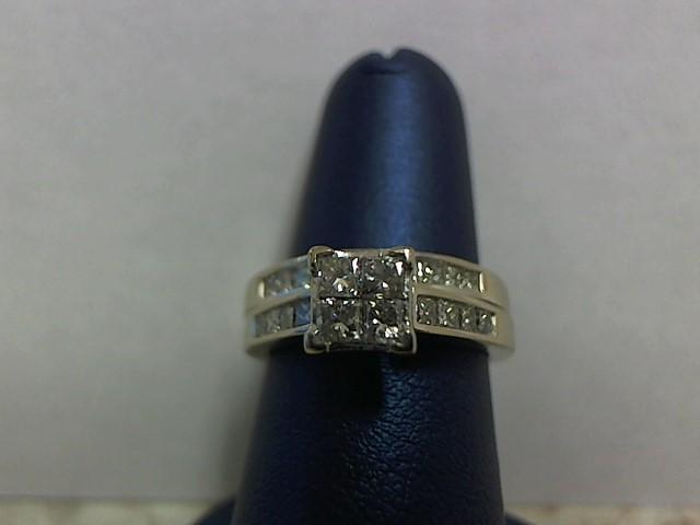 Lady's Diamond Wedding Set 22 Diamonds 1.12 Carat T.W. 14K White Gold 5.4g
