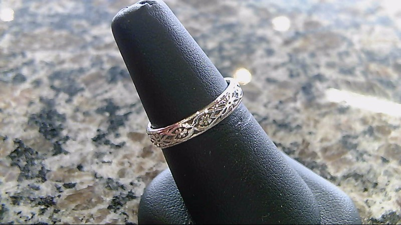 Lady's Silver Ring 925 Silver 3.2g Size:7
