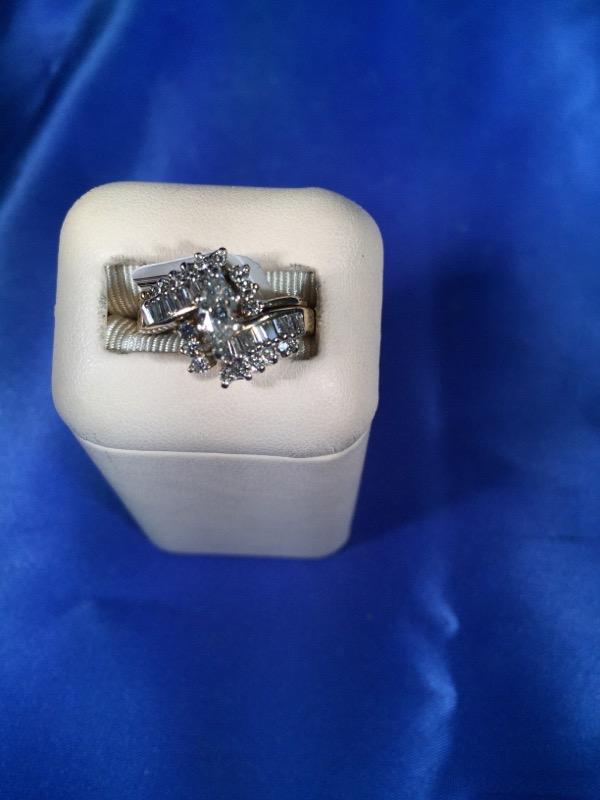 Lady's Diamond Wedding Set 34 Diamonds .75 Carat T.W. 14K Yellow Gold 7.5g