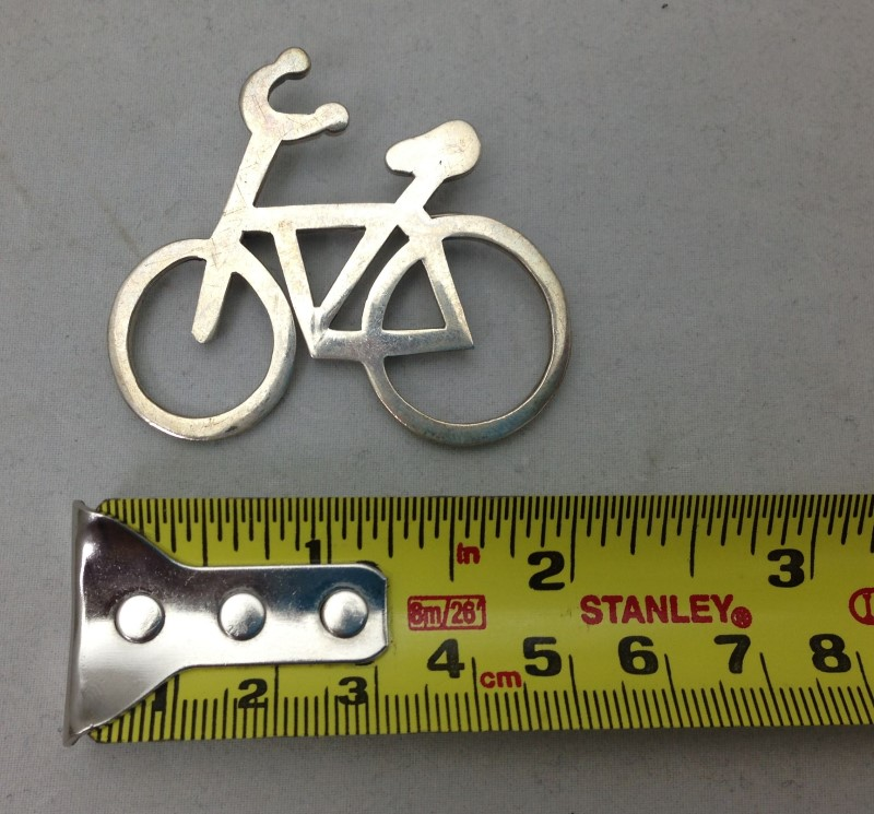 Sterling Silver Bicycle Pin Brooch