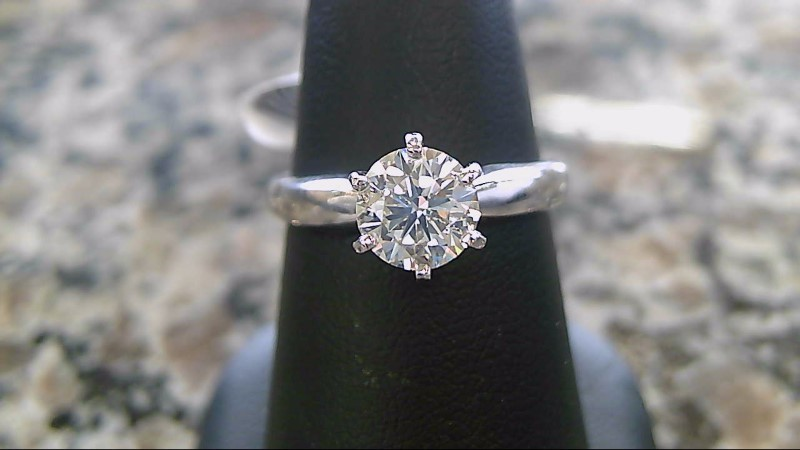 Lady's Diamond Solitaire Ring .80 CT. 14K White Gold 3.7g