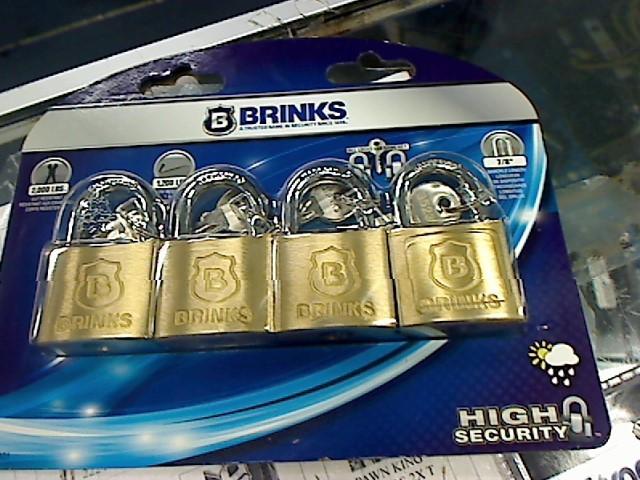 "BRINKS 161-40401 1-9/16"" 4 PACK SOLID BRASS LOCKS"