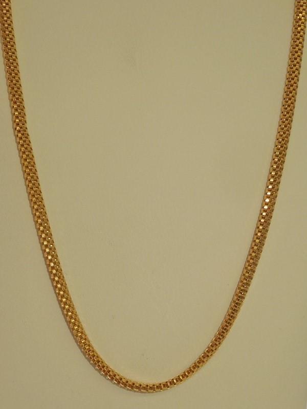 "24"" Gold Box Chain 18K Yellow Gold 18.5g"