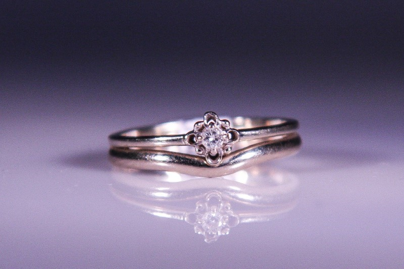 Lady's Diamond Solitaire Ring .04 CT. 10K White Gold 2.7g Size:7