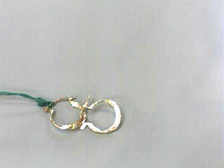 Gold Earrings 10K Yellow Gold 0.3dwt