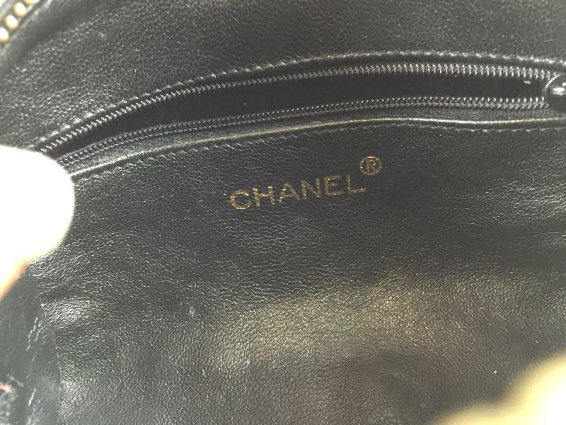 CHANEL VINTAGE PAILLETE ZIGZAG EVENING BAG