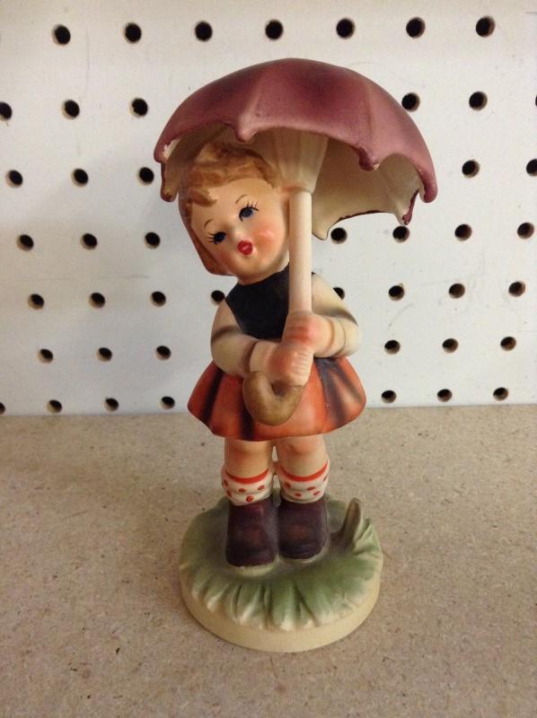 "NORLEANS Collectible Plate/Figurine FIGURINE ""GIRL UMBRELLA"""