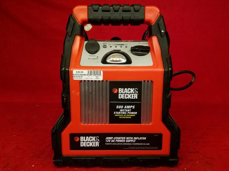 Black & Decker 300 Amp Jump-Starter/Inflator / Model: JU300CB